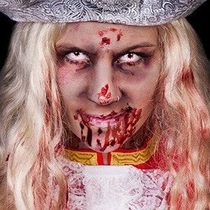 So sieht ein Zombie beim Karneval aus