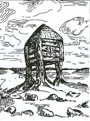 Nicholas Roerich, Изба смерти (Hut of Death), sketch (1905) - public domain