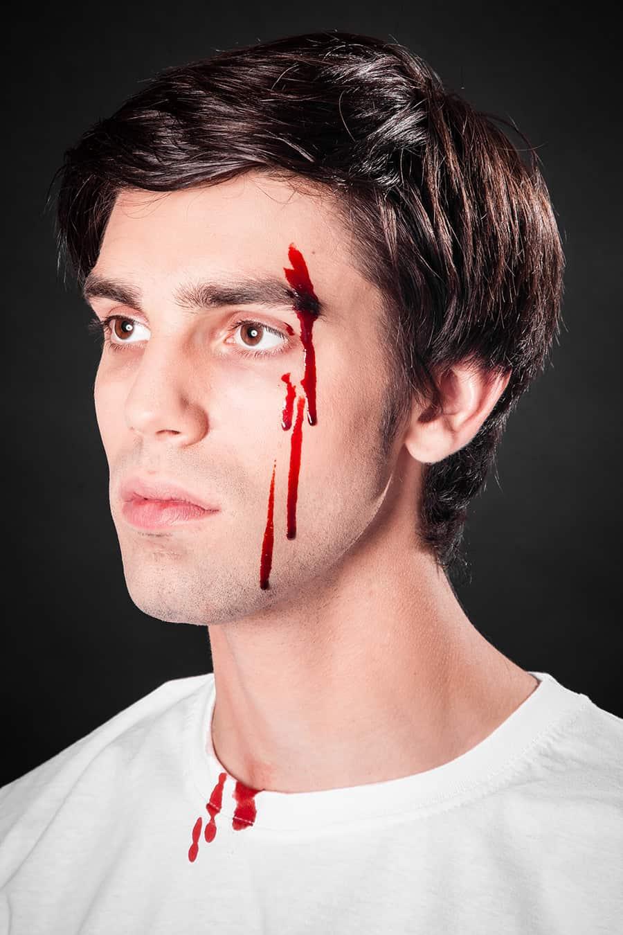Bluteffekte Blut Schminken Wunden Schminken Zu Halloween
