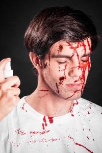 Blutspray Horror Wunden Blut schminken