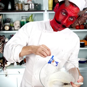 Halloween Kuchenrezept Vorbereitung