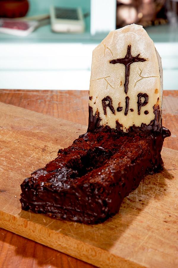 Halloween Kuchen Rezept Grabstein