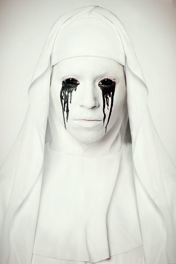 Halloween Make-Up Horror Nonne Anleitung
