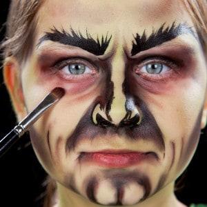 schminken hexe kind halloween