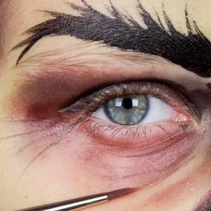 Kinderschminken Hexe Augen