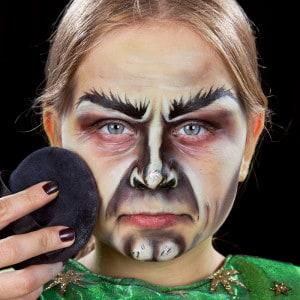 Kinderschminken Hexe Halloween