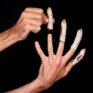 Halloween Slenderman Finger basteln