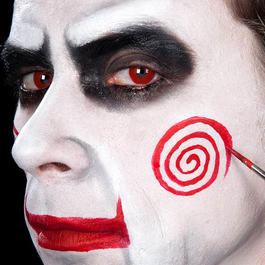 Saw Make Up Halloween Schminkanleitung Jetzt Ansehen Halloween De