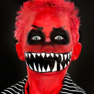 Kinder schminken an Halloween Anleitung Monster