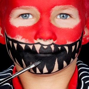 Halloween Kinderschminken Anleitung Fress-Monster