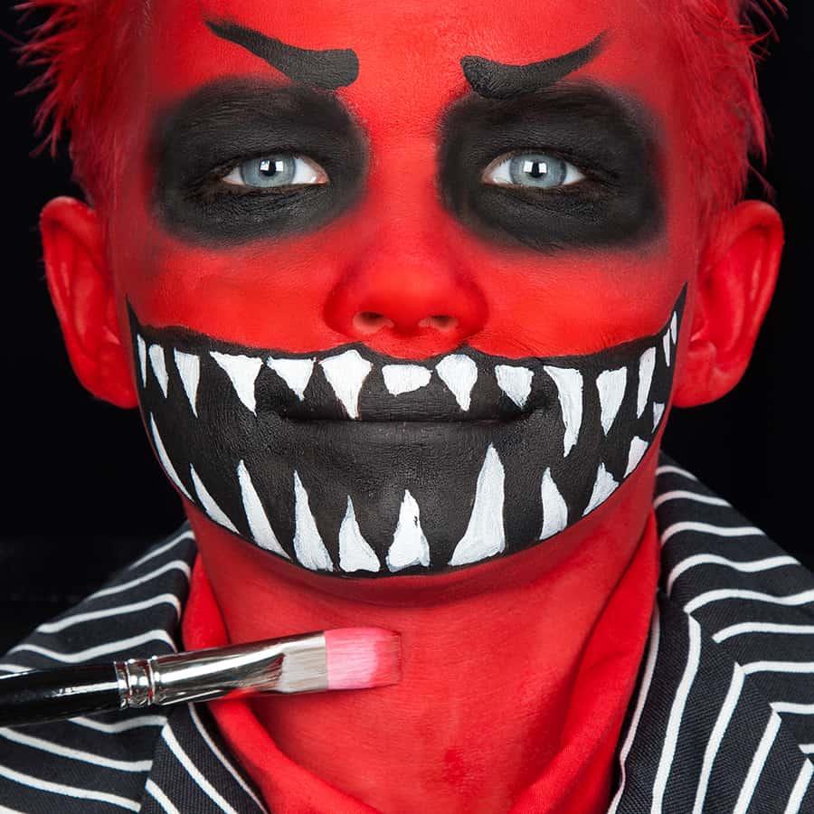 monster schminken für kinder  halloweende
