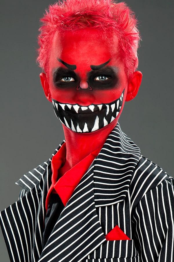 Monster Kinder Schminken Anleitung für Halloween