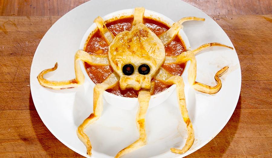 Halloween-Rezept Halloween Suppe mit Tentakeln
