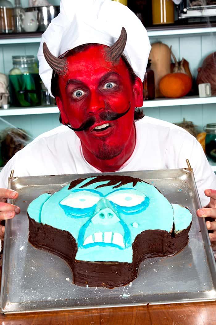 Halloween Rezept Zombiekuchen mit Teufelskoch