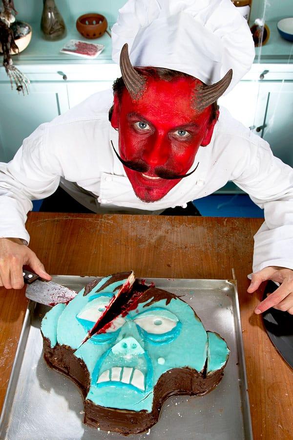 Halloween Zombie Kuchen