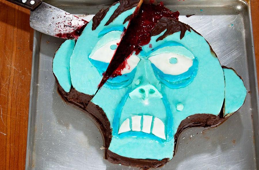 Halloween Rezept Zombiekuchen