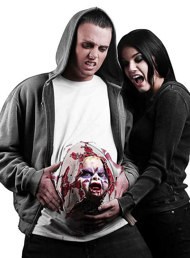 Horror Babybauch animiertes Kostüm