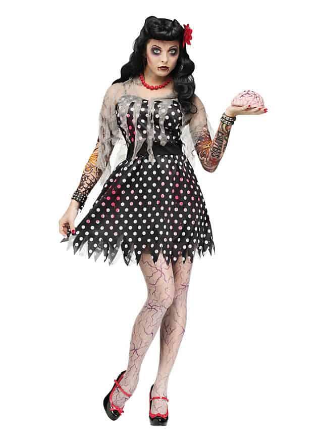 rockabilly zombie kostüm