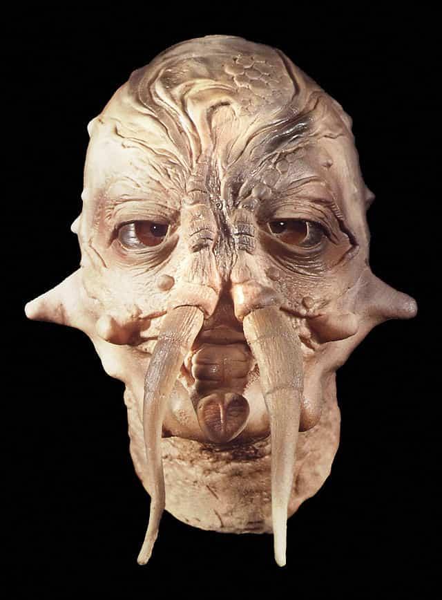 Insektoid Halloween Maske aus Schaumlatex