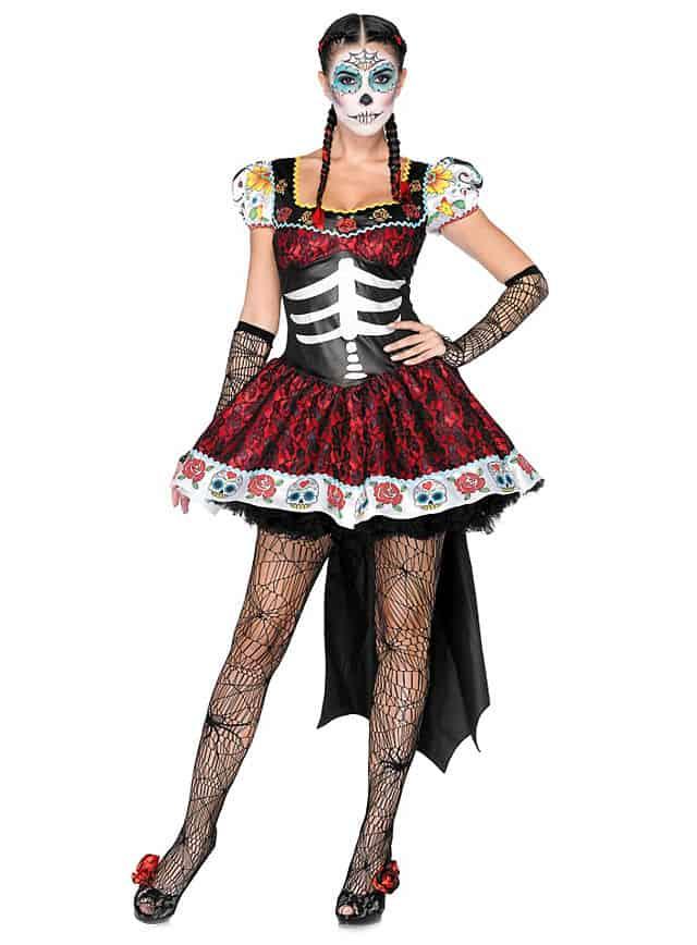 Sexy Dia de los Muertos Halloween Kostüm