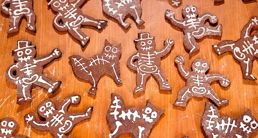 Halloween Rezept Skelett-Kekse