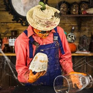 Halloween Deko Zombie Hand im Blumentopf (10)