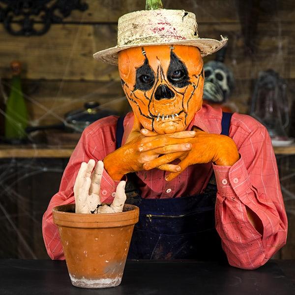 Tolle Halloween Dekoration Zum Selberbasteln Hand Aus Blumentopf