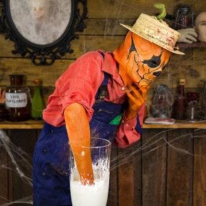 Halloween Deko Zombie Hand im Blumentopf (4)