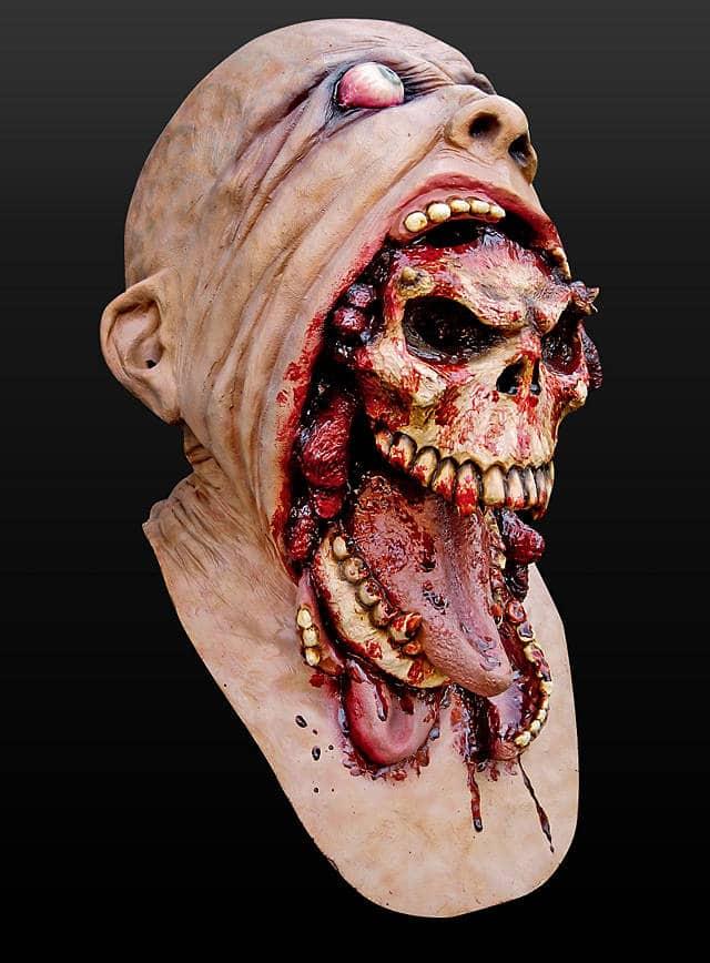 Horrormaske Parasit aus Latex