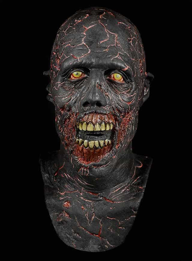 Horrormaske The walking Dead Verbrannter Zombie