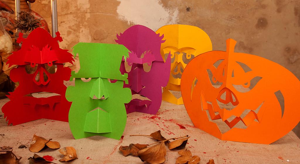 Halloween Dekoration Monster Zum Selberbasteln. Halloween Girlande Zum  Selber Basteln Totenkopf Lustige ...