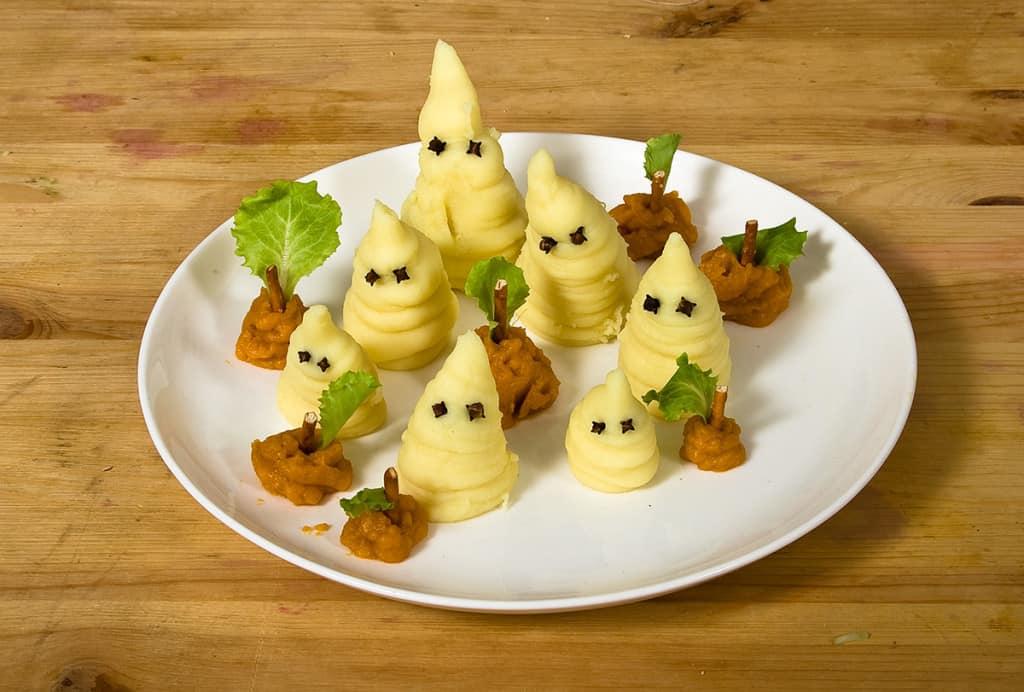 Halloween-Rezept-Kartoffelgeister für Kinder