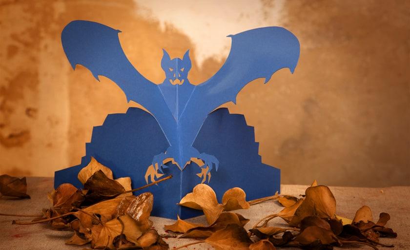 Halloween Tisch Dekoration Fledermaus zum selber basteln