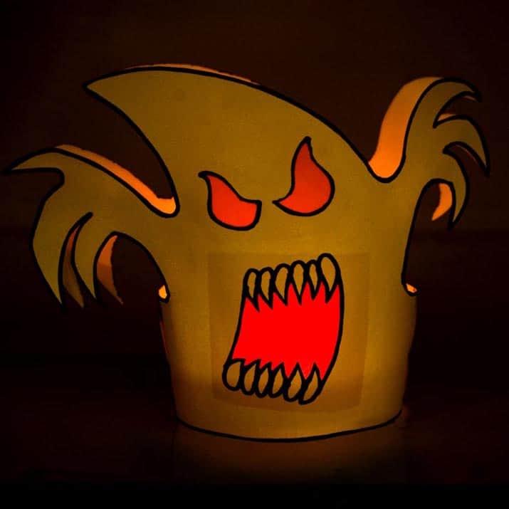 DIY Bastelanleitung für ein lustiges Halloween Tischlicht