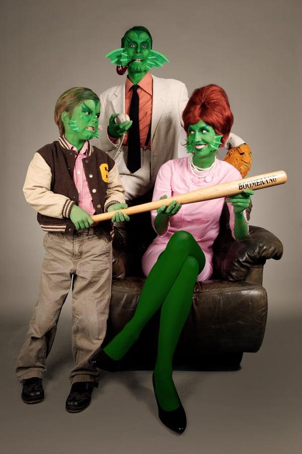 Halloween Make up DIY Kiemenmensch Famlienverkleidung