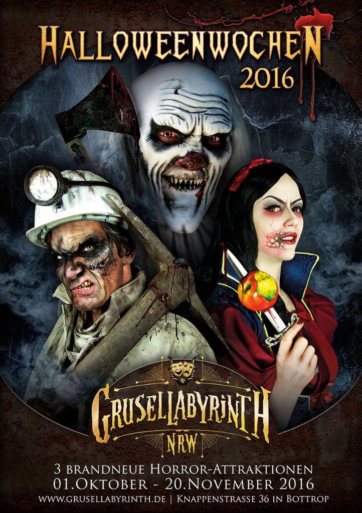 RGB Halloween-Wochen 2016 - Plakat - Grusellabyrinth NRW - 72dpi