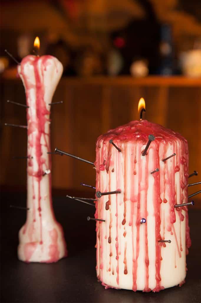 Halloween Dekoration Blutkerzen Anleitung (9)