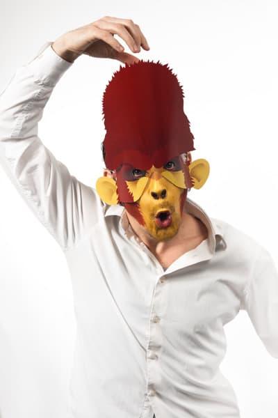 Halloween Last Minute Verkleidung Affe Maske