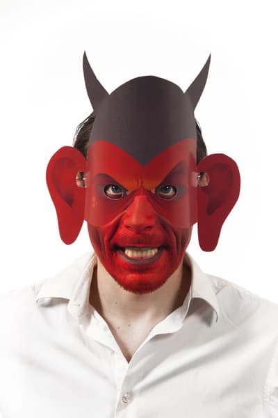Halloween Last Minute Verkleidung Teufel Maske