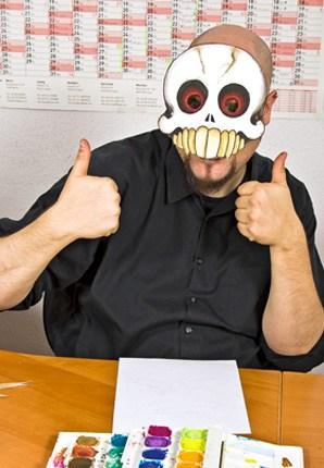 Halloween Last Minute Verkleidung Totenkopf Maske