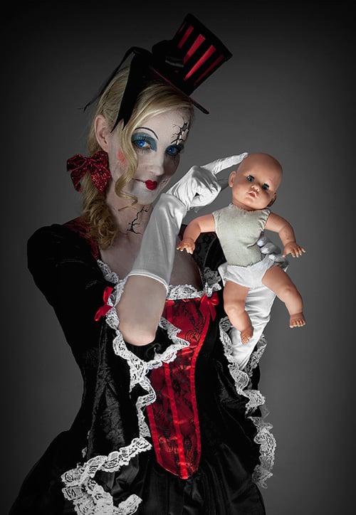 Halloween-Schminktipp Broken-Doll