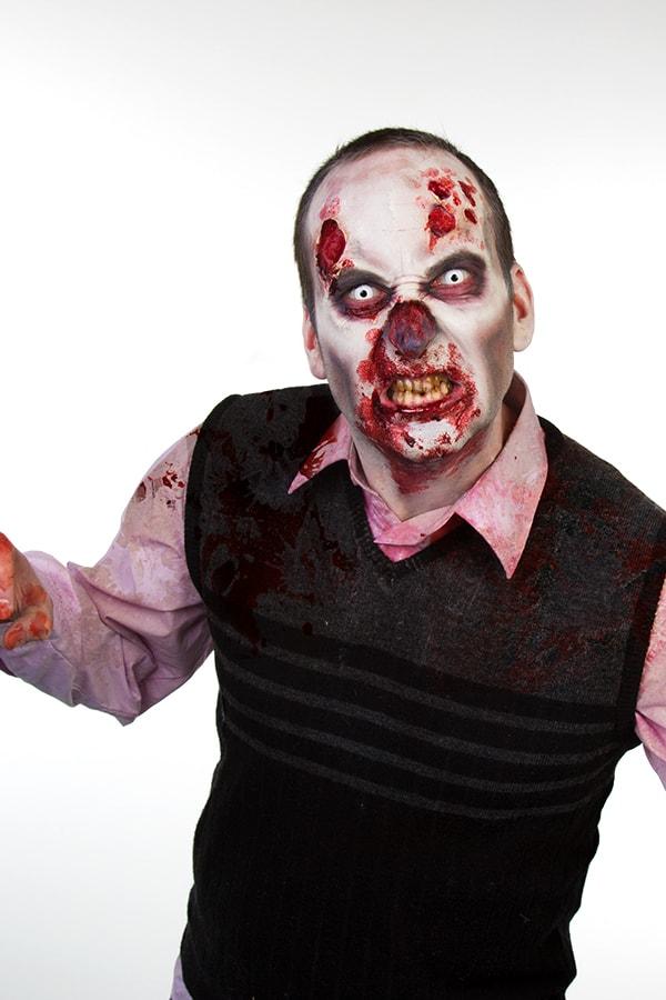 Zombie mit Blut