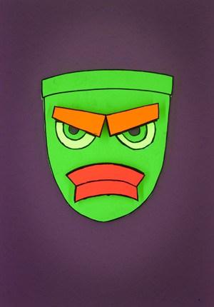Halloween Maske aus Papier zum selberbasteln