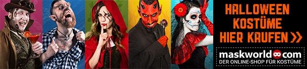 Keine Lust auf selber machen? Hier geht\'s zu der riesen Halloween Kostüm Auswahl von maskword.com
