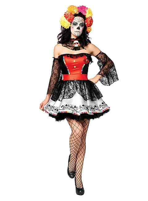sexy halloween kostuem-sexy-la-catrina-kostuem